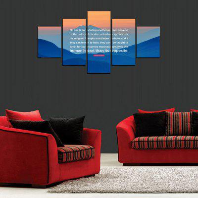 MailingArt FIV426  5 Panels Moto Words Wall Art Painting Home Decor Canvas PrintPrints<br>MailingArt FIV426  5 Panels Moto Words Wall Art Painting Home Decor Canvas Print<br><br>Craft: Print<br>Form: Five Panels<br>Material: Canvas<br>Package Contents: 5 x Print<br>Package size (L x W x H): 82.00 x 32.00 x 12.00 cm / 32.28 x 12.6 x 4.72 inches<br>Package weight: 1.8000 kg<br>Painting: Include Inner Frame<br>Shape: Horizontal Panoramic<br>Style: Scenic, Military, Concise<br>Subjects: Words / Quotes<br>Suitable Space: Living Room,Bedroom,Dining Room,Office,Hotel,Cafes,Kitchen,Corridor,Hallway,Study Room / Office