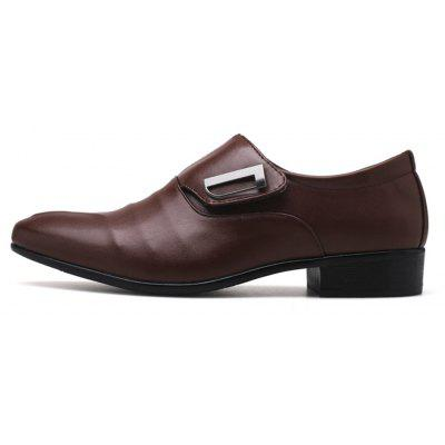 ZEACAVA Men Large Size Pointed Toe Metal Buckle Business Casual Leather ShoesFormal Shoes<br>ZEACAVA Men Large Size Pointed Toe Metal Buckle Business Casual Leather Shoes<br><br>Available Size: 39-48<br>Closure Type: Slip-On<br>Embellishment: Buckle<br>Gender: For Men<br>Occasion: Office &amp; Career<br>Outsole Material: PU<br>Package Contents: 1xShoes(Pair)<br>Pattern Type: Solid<br>Season: Spring/Fall<br>Toe Shape: Pointed Toe<br>Toe Style: Closed Toe<br>Upper Material: Full Grain Leather<br>Weight: 1.2000kg