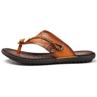 ZEACAVA Men Handmade Hole Sandals Light Leather Cool SlippersMens Slippers<br>ZEACAVA Men Handmade Hole Sandals Light Leather Cool Slippers<br><br>Available Size: 39-44<br>Closure Type: Slip-On<br>Embellishment: Ruched<br>Gender: For Men<br>Heel Hight: 2cm<br>Occasion: Casual<br>Outsole Material: Rubber<br>Package Contents: 1xShoes(Pair)<br>Pattern Type: Solid<br>Sandals Style: Flip Flops<br>Style: Concise<br>Upper Material: Full Grain Leather<br>Weight: 1.2000kg