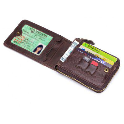 The Cow Ceather New Head Layer Cowhide Multi-Function Card Three Folding Driving License A Zipper Leather WalletWallets<br>The Cow Ceather New Head Layer Cowhide Multi-Function Card Three Folding Driving License A Zipper Leather Wallet<br><br>Closure Type: Zipper<br>Embellishment: Zippers<br>Gender: For Men<br>Height: 9.5cm<br>Interior: Zipper Pouch, Interior Zipper Pocket<br>Length(CM): 11.5cm<br>Main Material: Genuine Leather<br>Package Contents: 1 x Bag<br>Package size (L x W x H): 13.50 x 4.50 x 11.50 cm / 5.31 x 1.77 x 4.53 inches<br>Package weight: 0.2000 kg<br>Pattern Type: Solid<br>Style: Fashion<br>Wallets Type: Standard Wallets<br>Width: 9.5cm