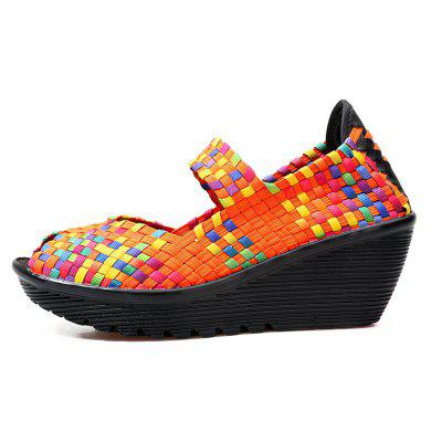 Women Slope with Fish Mouth Set of SandalsWomens Sandals<br>Women Slope with Fish Mouth Set of Sandals<br><br>Available Size: 35-40<br>Closure Type: Slip-On<br>Embellishment: Criss-Cross<br>Gender: For Women<br>Heel Height Range: Low(0.75-1.5)<br>Heel Type: Wedge Heel<br>Insole Material: PU<br>Occasion: Casual<br>Outsole Material: PU<br>Package Content: 1xshoes(pair)<br>Pattern Type: Plaid<br>Sandals Style: Slides<br>Style: Leisure<br>Upper Material: PU<br>Weight: 1.2000kg