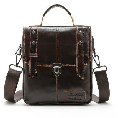 Brand Fashion Men  Genuine Leather Shoulder Bags High Quality Briefcases for Men Business Tote