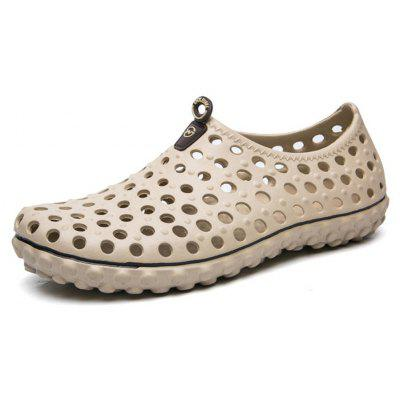 Men Fashion Hollow Breathable Beach Outdoor River ShoesMens Sandals<br>Men Fashion Hollow Breathable Beach Outdoor River Shoes<br><br>Available Size: 40-44<br>Closure Type: Slip-On<br>Feature: Breathable, Anti-slip<br>Gender: For Men<br>Outsole Material: EVA<br>Package Contents: 1 x Shoes (pair)<br>Package Size ( L x W x H ): 30.00 x 18.00 x 10.00 cm / 11.81 x 7.09 x 3.94 inches<br>Pattern Type: Solid<br>Season: Summer<br>Type: Casual Shoes<br>Upper Material: PVC<br>Weight: 1.0800kg