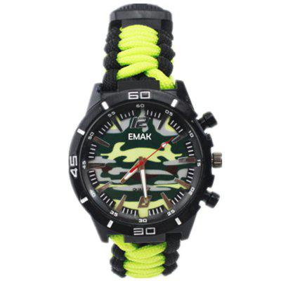 Whistle/Fire Starter/Scraper/Compass and Thermometer 6 In 1 Multifunctional Outdoor Gear