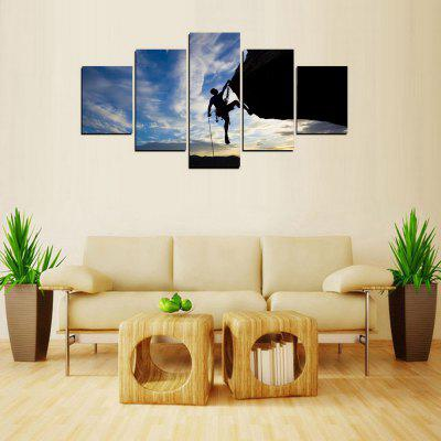 Buy MailingArt FIV440 5 Panels Landscape Wall Art Painting Home Decor Canvas Print, COLORMIX, Home & Garden, Home Decors, Wall Art, Prints for $57.78 in GearBest store