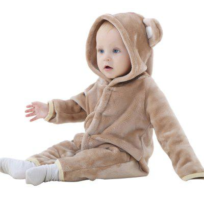 2018 Spring Autumn Thick Flannel Animal Styling Clothes Fall Winter Jumpsuit Newborn Baby Coat Clim