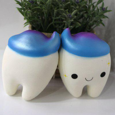 New PU Slow Springback Jumbo Squishy Toys Teeth Scent 1PCSquishy toys<br>New PU Slow Springback Jumbo Squishy Toys Teeth Scent 1PC<br><br>Age Range: &gt; 3 years old<br>Materials: PU<br>Package Content: 1 x Pressure Reducing Toy<br>Package Dimension: 15.00 x 10.00 x 10.00 cm / 5.91 x 3.94 x 3.94 inches<br>Pattern Type: Cartoon Character, Delicacy<br>Product Dimension: 10.00 x 7.80 x 5.00 cm / 3.94 x 3.07 x 1.97 inches<br>Products Type: Pressure Reducing Toy<br>Theme: Cartoon