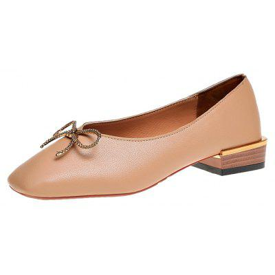 Square Foot Thick Shallow Bow Muzzle Documentary ShoesWomens Flats<br>Square Foot Thick Shallow Bow Muzzle Documentary Shoes<br><br>Available Size: 35,36,37,38,39<br>Closure Type: Slip-On<br>Embellishment: Bowknot<br>Gender: For Women<br>Outsole Material: Rubber<br>Package Contents: 1xShoes pair<br>Pattern Type: Solid<br>Season: Spring/Fall<br>Toe Shape: Square Toe<br>Toe Style: Closed Toe<br>Upper Material: PU<br>Weight: 0.6240kg