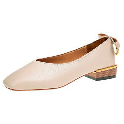 Retro Thick with Shallow Mouth of All-match Square After Bow ShoesWomens Flats<br>Retro Thick with Shallow Mouth of All-match Square After Bow Shoes<br><br>Available Size: 35,36,37,38,39<br>Closure Type: Slip-On<br>Embellishment: Bowknot<br>Gender: For Women<br>Outsole Material: Rubber<br>Package Contents: 1xShoes pair<br>Pattern Type: Solid<br>Season: Spring/Fall<br>Toe Shape: Square Toe<br>Toe Style: Closed Toe<br>Upper Material: PU<br>Weight: 0.6240kg