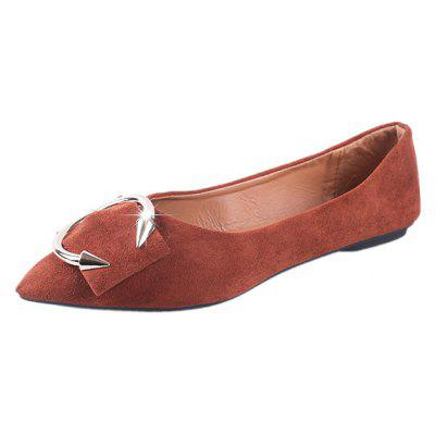 Metal Decorative Single Shoe with Shallowly Pointed HeadWomens Flats<br>Metal Decorative Single Shoe with Shallowly Pointed Head<br><br>Available Size: 35,36,37,38,39,40<br>Closure Type: Slip-On<br>Embellishment: Metal<br>Gender: For Women<br>Outsole Material: Rubber<br>Package Contents: 1xShoes pair<br>Pattern Type: Solid<br>Season: Spring/Fall<br>Toe Shape: Pointed Toe<br>Toe Style: Closed Toe<br>Upper Material: Flock<br>Weight: 0.6240kg