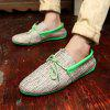 Toile Respirant Slip On Mocassins Casual Hommes Solide Coton Conduite Chaussures - VERT
