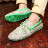 Canvas Breathable Slip On Loafers Casual Men Solid Cotton Driving Shoes - GREEN