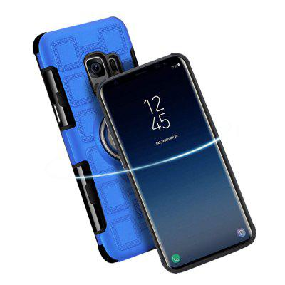 Cover Case for Samsung Galaxy S9 Car Holder Stand Magnetic Suction Finger Ring PC+TPU ArmorSamsung S Series<br>Cover Case for Samsung Galaxy S9 Car Holder Stand Magnetic Suction Finger Ring PC+TPU Armor<br><br>Features: Back Cover, Bumper Frame, Anti-knock, Dirt-resistant<br>Material: TPU, PC<br>Package Contents: 1 x Phone Case<br>Package size (L x W x H): 20.00 x 10.00 x 1.50 cm / 7.87 x 3.94 x 0.59 inches<br>Package weight: 0.0580 kg<br>Product weight: 0.0530 kg<br>Style: Cool, Solid Color