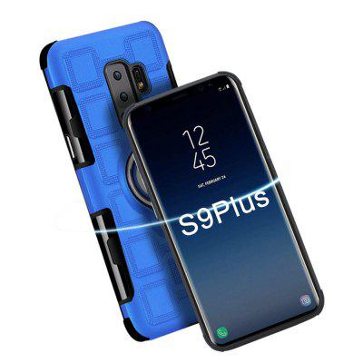 Cover Case for Samsung Galaxy S9 Plus Car Holder Stand Magnetic Suction Finger Ring PC+TPU Armor benks for iphone 7 4 7 ring holder kickstand hybrid pc tpu phone case built in magnetic holder metal sheet