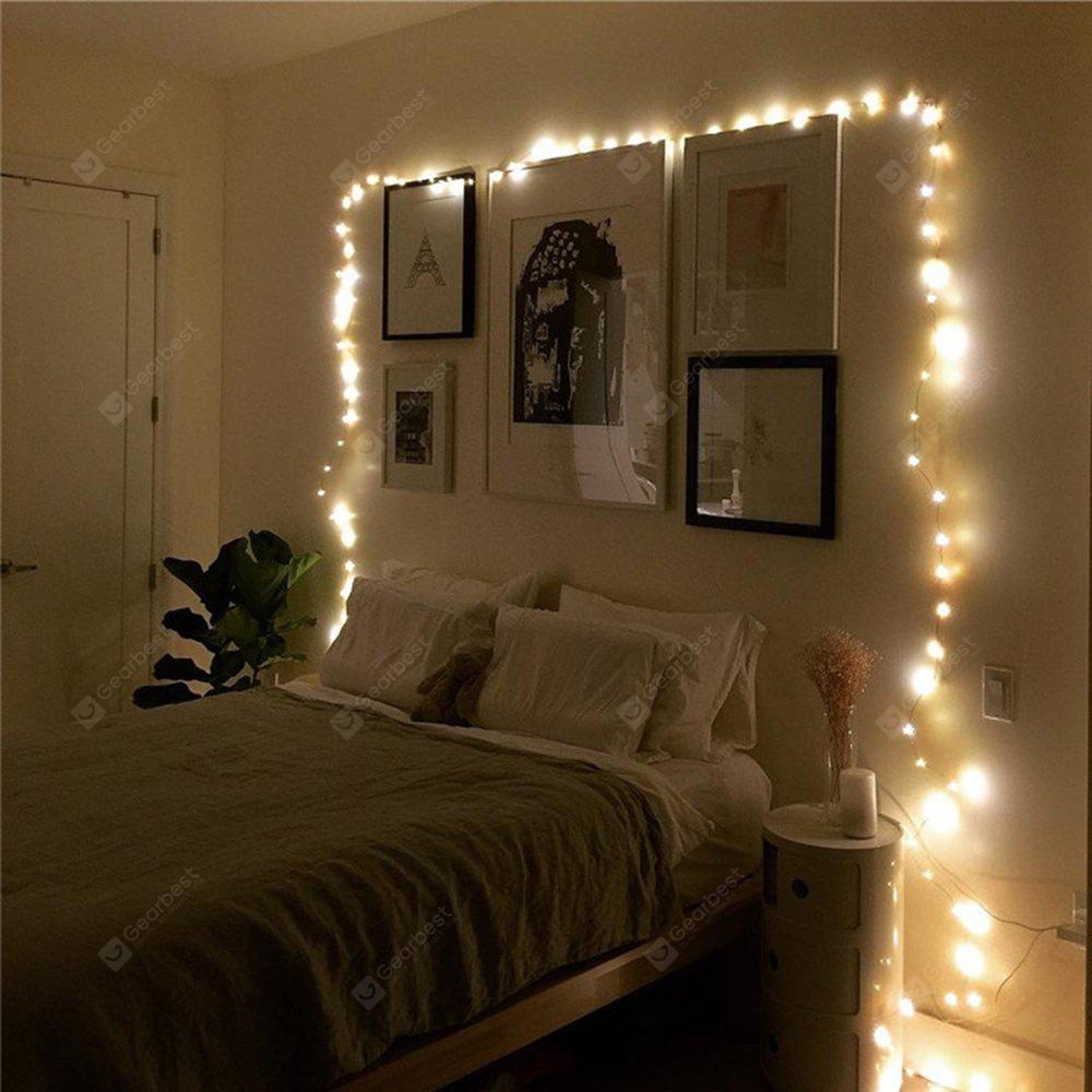 BRELONG 20LED Copper Wire String Lights for Christmas Indoor Decorations 1pcs