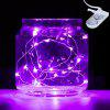 BRELONG 20LED Copper Wire String Lights for Christmas Indoor Decorations 1pcs - PURPLE