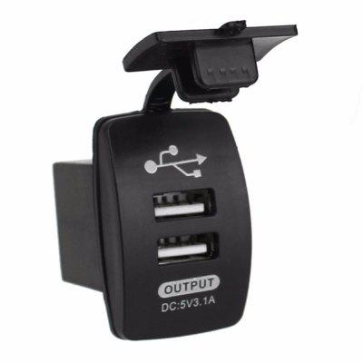 Switch Type Dual USB  Car  Charger Power Adapter Outlet Outstanding Car Truck Boat Motorcycle Accessory