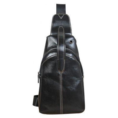 Vintage Sling Bag Crazy Horse Men Desbalance Mochila Fashion Waist Pack