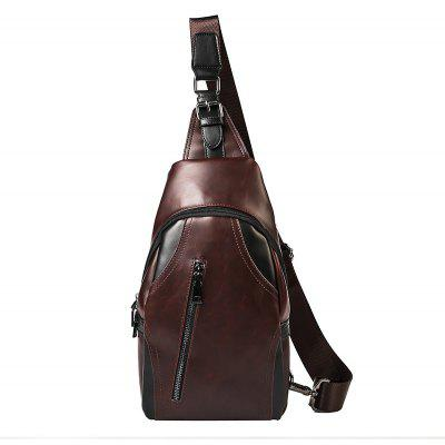 Crazy Horse Casual Sling Bag Esportes ao ar livre Fashion Unbalance Mochila Small Chest Pack