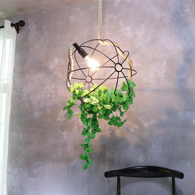 Retro Industrial Style Plant Pendant for Restaurant Clothing Store