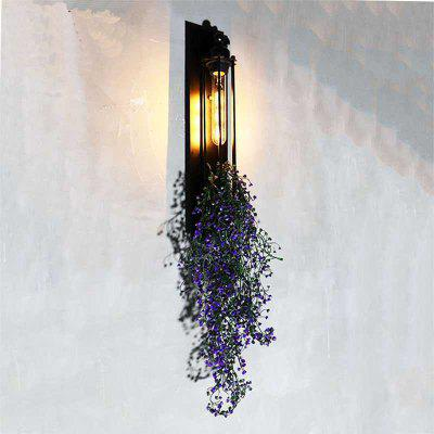 American Creative Industrial Style Plants Wall Light for Bar Cafe
