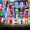 2018 FIFA World Cup Russia Soccer Football Fabric Bunting Banner String Flags - MULTICOLOR