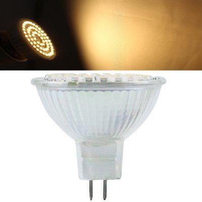 1PC MR16 60LEDS 3528SMD DC12V Dimmable 550-600LM Glass Light
