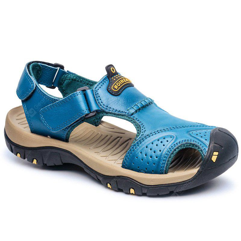 ZEACAVA Men's First Layer of Spring and Summer Leather Sandals