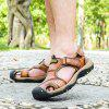 ZEACAVA Men's First Layer of Spring and Summer Leather Sandals - LIGHT BROWN