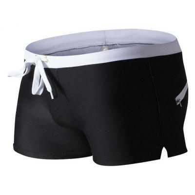 Fashion Style Men's Trunk Rapid Splice Square Solid Jammer Shorts Jammers
