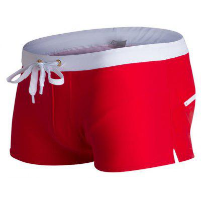 Moda Style Men's Trunk Rapid Splice Square Solid Jammer Shorts Jammers