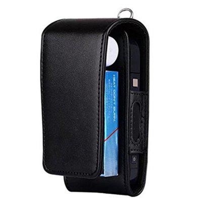 For iQOS Electronic Cigarette Protective Holder Cigar Cover Wallet Case  PU Leather Carrying Case Box with Card Holder