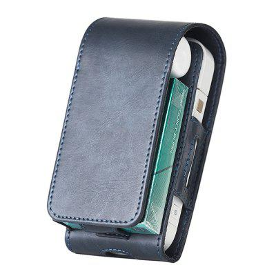 iQOS 2 Electronic Cigarette Protective Holder Cigar Cover Wallet Case PU Leather Carrying Case Box with Card Holder