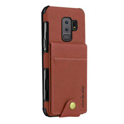Cover Case for Samsung Galaxy S9 Plus Luxury Wallet Canvas Back High Quality Flip Card Slots