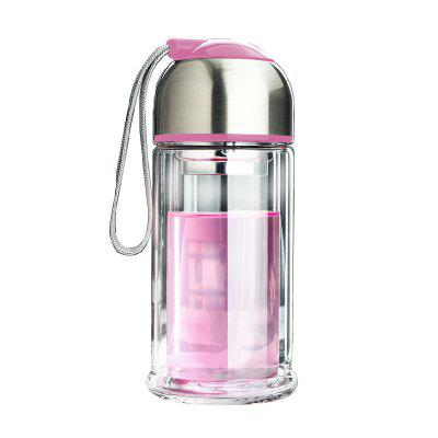 Portable Double Layer Thickened Heat-Resistant Glass Vacuum Cup