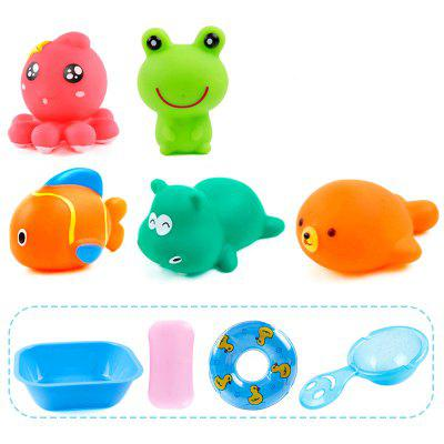 Lovely Rubber Animals Baby Bath Toys Floating Squeeze Make Sound 1 SetClassic Toys<br>Lovely Rubber Animals Baby Bath Toys Floating Squeeze Make Sound 1 Set<br><br>Appliable Crowd: Unisex<br>Materials: ABS<br>Nature: Swimming Float<br>Package Contents: 1 x Set of toys<br>Package size: 35.00 x 10.00 x 40.00 cm / 13.78 x 3.94 x 15.75 inches<br>Package weight: 0.3000 kg<br>Product size: 33.00 x 7.00 x 23.00 cm / 12.99 x 2.76 x 9.06 inches