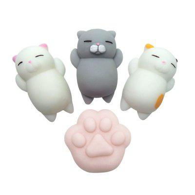 Kawaii Jumbo Squishy Cute Cats Paw Mini Animal Healing Stress Reliever Toy for Kids Adults 4PCS