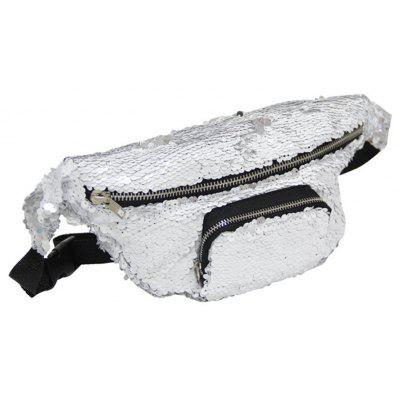 DrCosy Unisex Mermaid Sequin Waist Pack Fanny Bag Sport Outdoor Travel Bags
