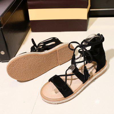 Womens Gladiator Sandals Hollow Out Lace Up Design Flat Sole Trendy Casual ShoesWomens Sandals<br>Womens Gladiator Sandals Hollow Out Lace Up Design Flat Sole Trendy Casual Shoes<br><br>Available Color: Black  Brown Apricot<br>Available Size: 37<br>Closure Type: Lace-Up<br>Embellishment: Tassel<br>Gender: For Women<br>Heel Height: 1.5<br>Heel Height Range: Flat(0-0.5)<br>Heel Type: Flat Heel<br>Insole Material: TPR<br>Lining Material: PU<br>Occasion: Casual<br>Outsole Material: TPR<br>Package Content: 1  x  shoes (pair)<br>Pattern Type: Others<br>Platform Height: 1CM<br>Sandals Style: Gladiator<br>Shoe Width: Medium(B/M)<br>Style: Rome<br>Technology: Adhesive<br>Upper Material: Full Grain Leather<br>Weight: 1.0560kg