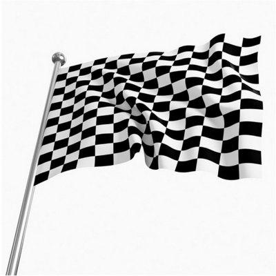 Hot 90X150 Cm Black and White Grid Racing Flags Car Stickers Fashion Home Decoration