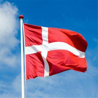Hot Sale 90X150 Cm Danish National Flag Hanging for Holiday Home Decor