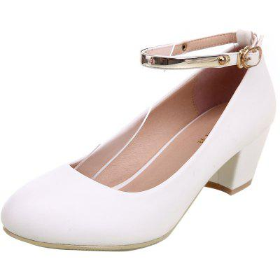 YALNN New Womens Sexy Bride Party Thick Round Toe Leather High Heel Shoes For Office LadyWomens Pumps<br>YALNN New Womens Sexy Bride Party Thick Round Toe Leather High Heel Shoes For Office Lady<br><br>Embellishment: Buckle<br>Heel Height: 5cm<br>Heel Height Range: Med(1.75-2.75)<br>Heel Type: Chunky Heel<br>Insole Material: Latex<br>Lining Material: PU<br>Occasion: Office &amp; Career<br>Outsole Material: TPR<br>Package Contents: 1 x Shoes pair<br>Pumps Type: Basic<br>Season: Summer, Spring/Fall<br>Toe Shape: Pointed Toe<br>Toe Style: Closed Toe<br>Upper Material: PU<br>Weight: 1.0800kg