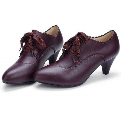 YALNN Ladies Leather New Dark Autumn Single High Heels Lace ShoesWomens Pumps<br>YALNN Ladies Leather New Dark Autumn Single High Heels Lace Shoes<br><br>Heel Height: 5cm<br>Heel Height Range: Med(1.75-2.75)<br>Heel Type: Chunky Heel<br>Insole Material: Latex<br>Lining Material: Synthetic<br>Occasion: Office &amp; Career<br>Outsole Material: TPR<br>Package Contents: 1 x Shoes Pair<br>Pumps Type: Basic<br>Season: Summer, Spring/Fall<br>Shoe Width: Medium(B/M)<br>Toe Shape: Pointed Toe<br>Toe Style: Closed Toe<br>Upper Material: PU<br>Weight: 1.0800kg
