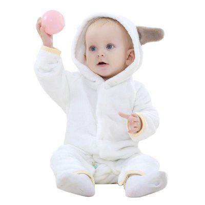 2018 Spring Autumn Thick Flannel Animal Styling Clothes Jumpsuit Newborn Baby Coat
