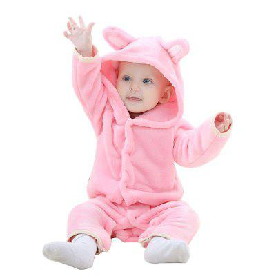 2018 Spring and Autumn Bear Cub Cute Conjoined Baby Crawling Clothes