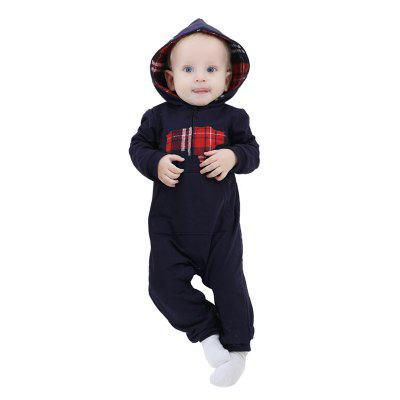 2018 Conjoined Cotton Newborn Hooded Crawling Spring and Autumn Baby Clothesbaby clothing sets<br>2018 Conjoined Cotton Newborn Hooded Crawling Spring and Autumn Baby Clothes<br><br>Applicable gender: Neutral / men and women can be<br>Closure Type: Zipper<br>Collar: Hooded<br>Color: Dark blue, gray<br>Gender: Unisex<br>Head Drawstring: Without<br>Main fabric components: Cotton<br>Material: Cotton<br>Neck Drawstring: Without<br>Package Contents: 1 x Baby Clothing<br>Season: Spring<br>Sleeve Length: Full<br>Thickness: General<br>Weight: 0.7840kg<br>Whether Hooded: Hooded