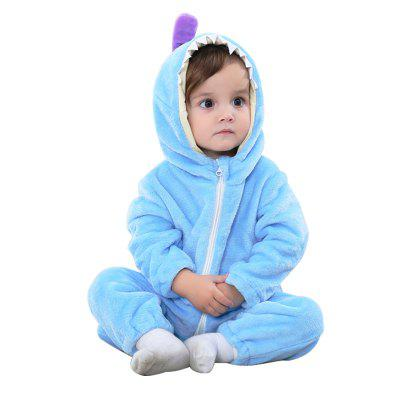 Spring and Autumn Models Children's Wear Flannel Animal Modeling Climbing Clothing Newborn Baby Clothes