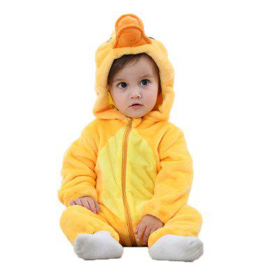 2018 Spring and Autumn Children's Yellow Duck Animal Modeling Jumpsuit Baby Climb Clothes