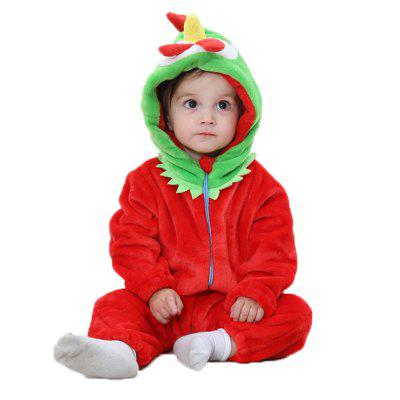 2018 Spring and Autumn Flannel Chick Animal Styling Children's Jumpsuit Newborn Baby Clothes