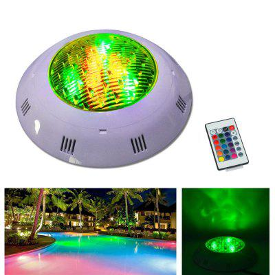 Jiawen 12W RGB Round LED Underwater Light IP68 Swimming Pool Fountain Spotlight Lamp with Remote Control AC 12 - 24V